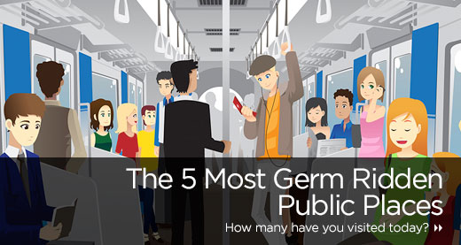The 5 Most Germ Ridden Public Places