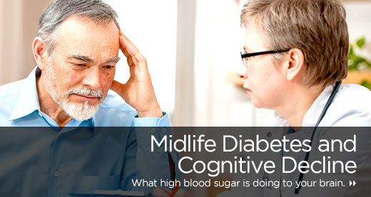 Midlife Diabetes and Cognitive Decline
